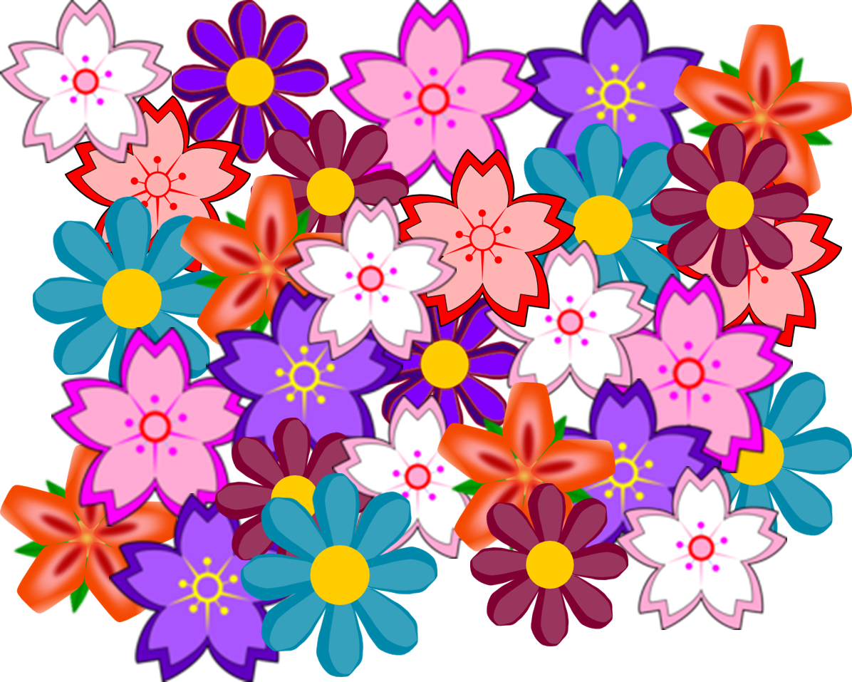 Flower collage clipart clipart black and white download Flower Collage | Free Images at Clker.com - vector clip art online ... clipart black and white download