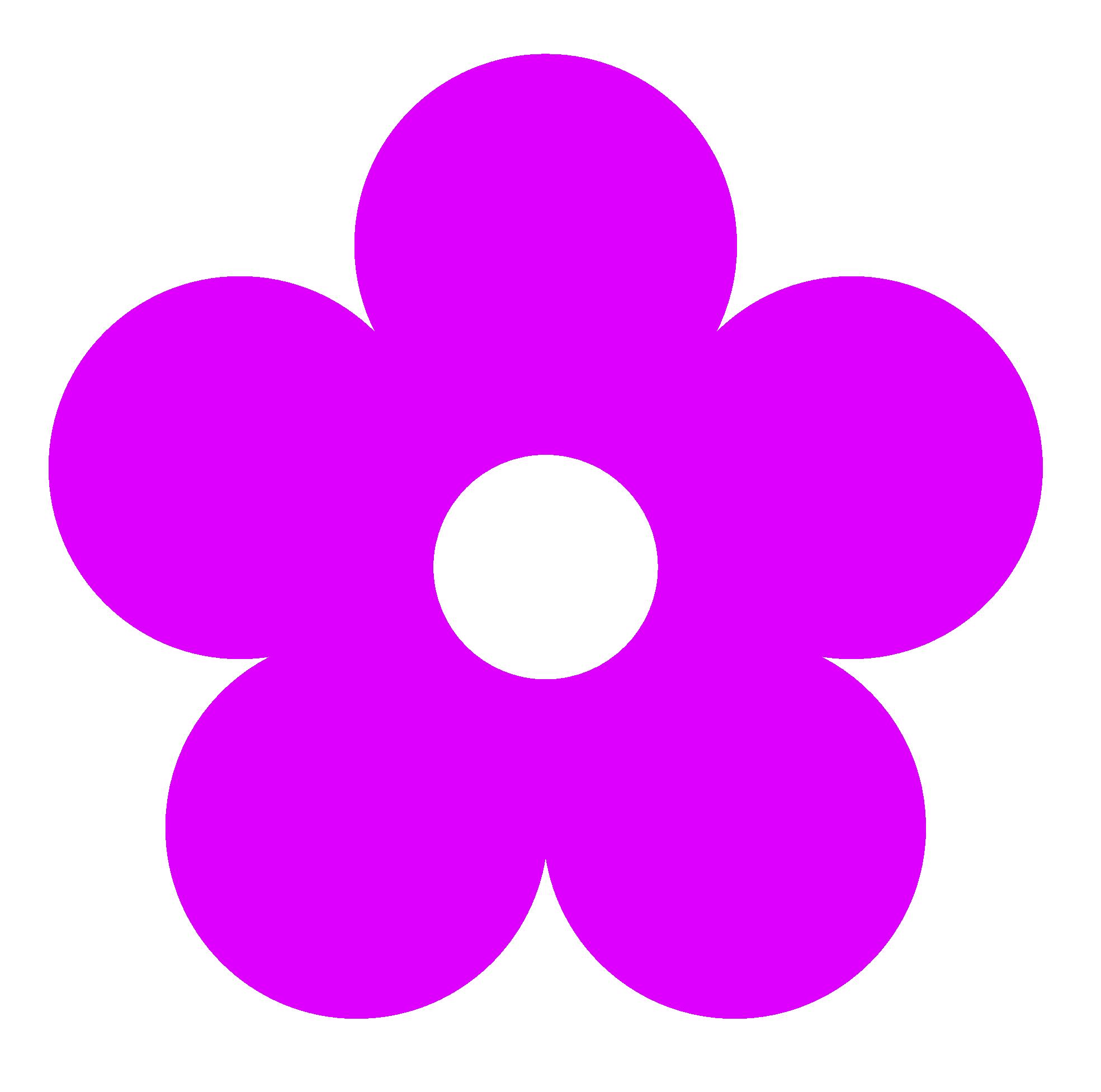 Flower color clipart. Retro panda free images
