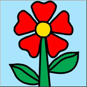 Clip art illustration brightly. Flower color clipart