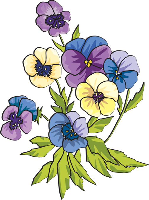 Flower colors clipart banner transparent stock Pin by Ruth Ann Tinsley on Original Polymer Clay Designs | Pinterest ... banner transparent stock