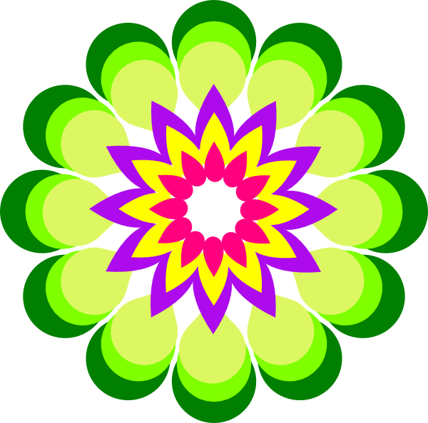 Flower colors clipart vector library download Amazing Idea Color Clipart Flower Colors Clip Art At Clker Com ... vector library download