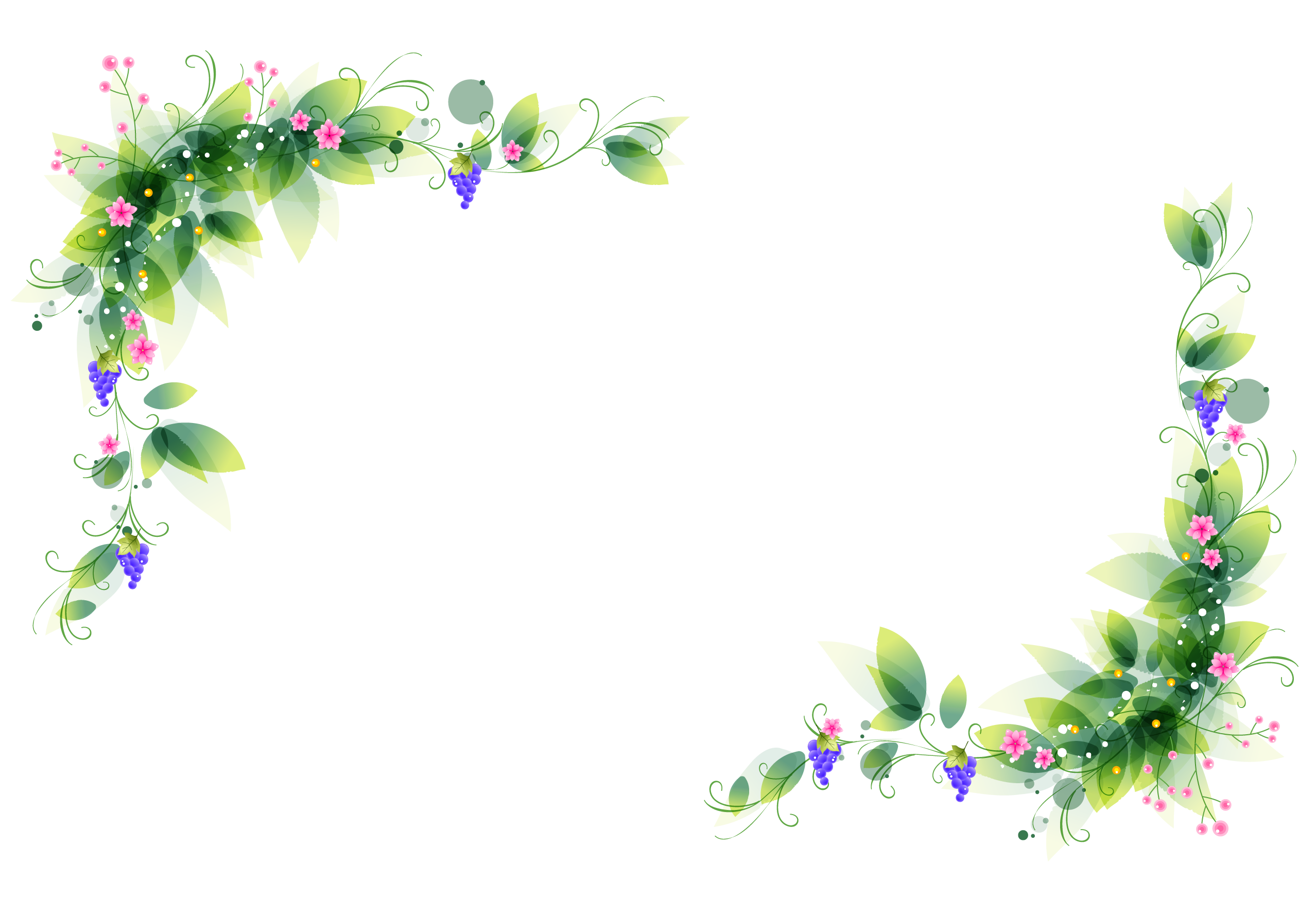 Flower corner border clipart free clip transparent stock Corner Floral Decoration PNG Clipart Image | Projects to Try ... clip transparent stock
