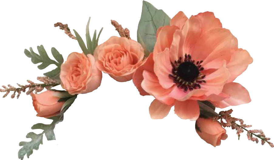 Flowers orange fiori arancio. Flower crown clipart transparent