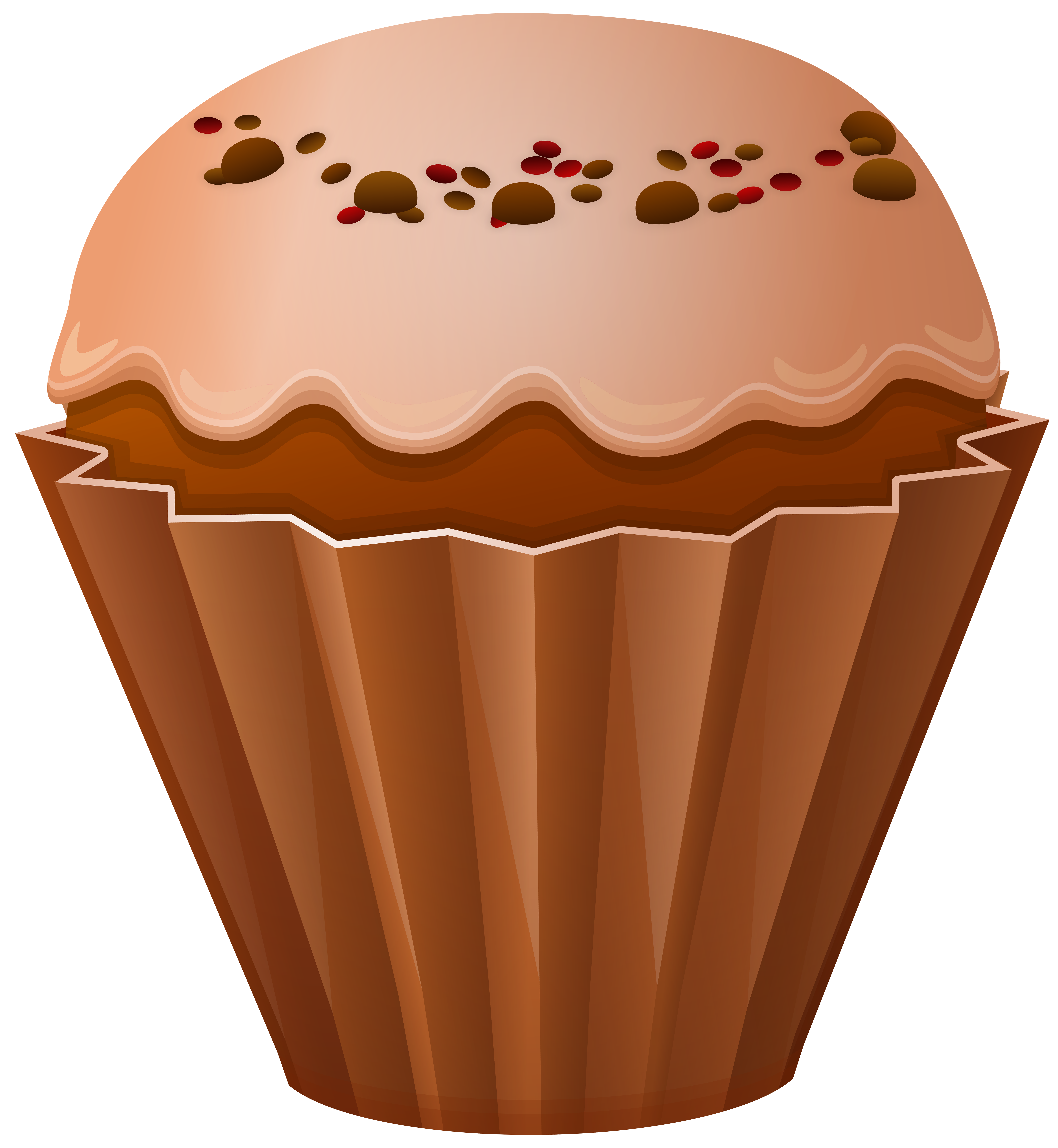 Flower cupcake clipart picture free library Muffin PNG Clip Art | Gallery Yopriceville - High-Quality Images ... picture free library