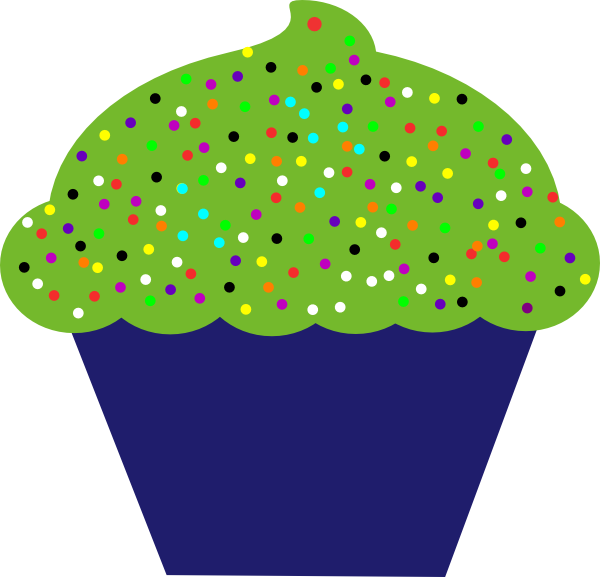 Flower cupcake clipart picture royalty free library Cupcake Clip Art at Clker.com - vector clip art online, royalty free ... picture royalty free library