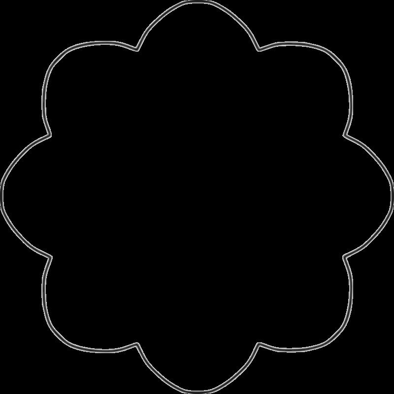 Flower cutout clipart