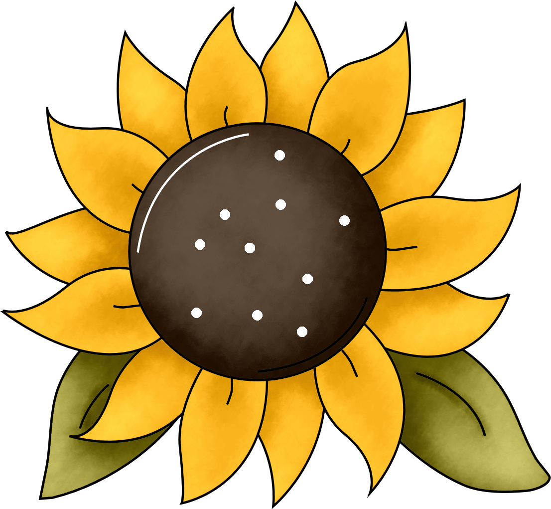 Free color book clipart sunflower svg transparent library Sunflower Drawing Template at GetDrawings.com | Free for personal ... svg transparent library