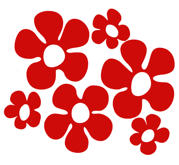 Flower cutout clipart jpg royalty free Vinyl Cutout Rub-on Stickers   Peace Resource Project jpg royalty free