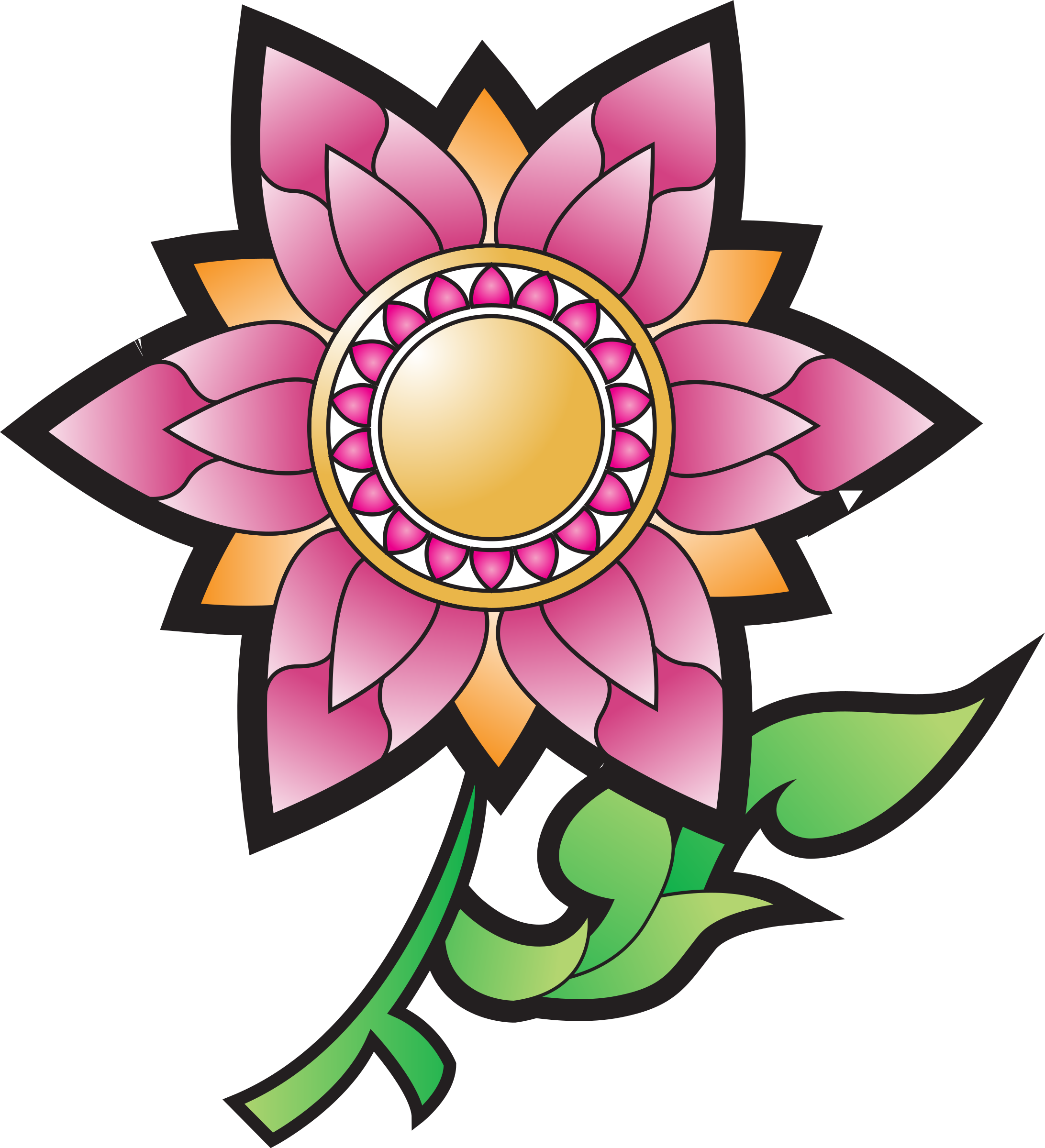 Thai flower clipart free library Clipart - Thai flower decoration free library