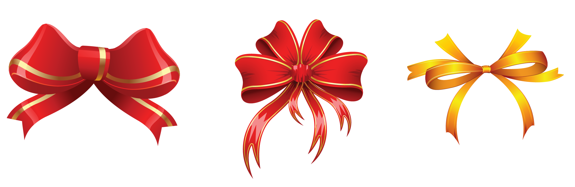 Flower decorations clipart graphic free Gold and Red Bows Decorations PNG Clipart Picture | Gallery ... graphic free