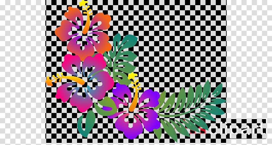 Flower design clipart images. Line art luau transparent