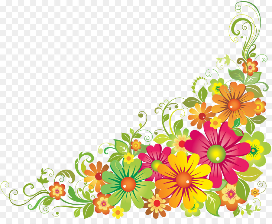 Flower design clipart images. Floral background yellow