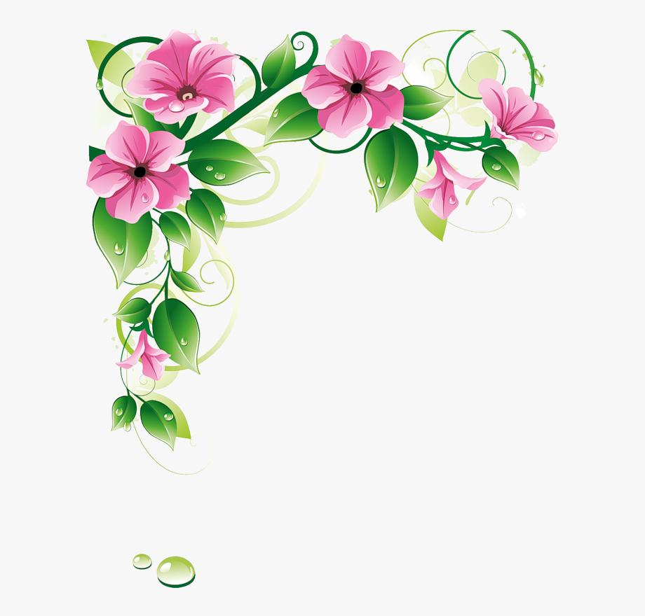 Borders png background border. Flower design clipart images