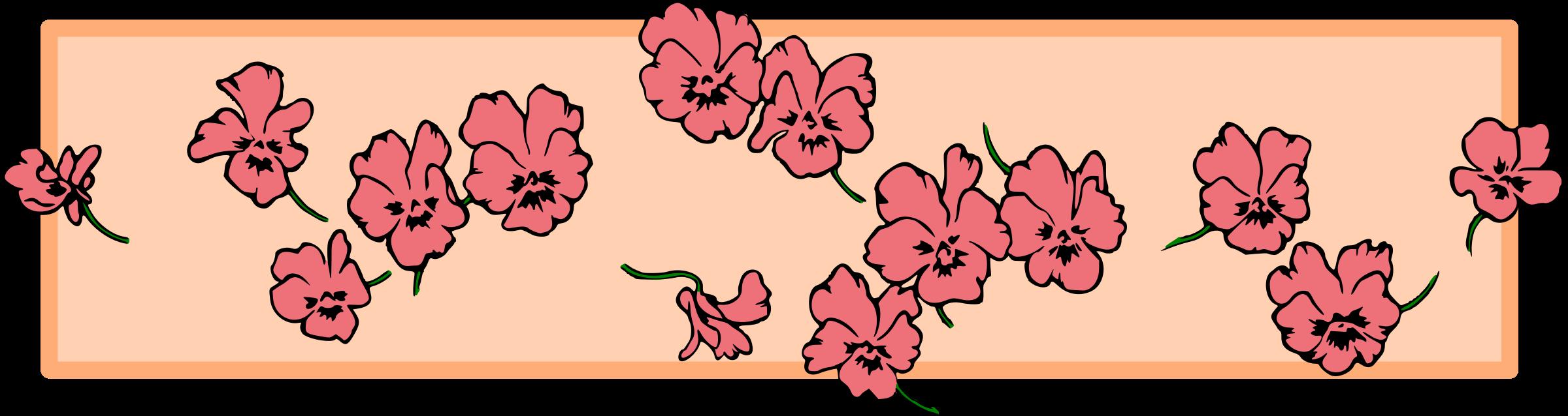 Flower divider clipart clipart black and white Clipart - Floral divider (colour) clipart black and white