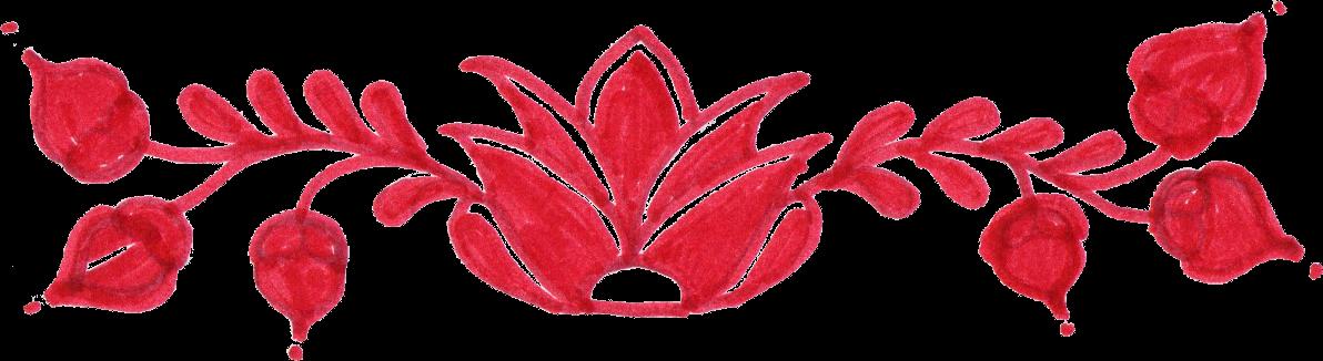 Flower divider clipart vector download 8 Red Flower Page Divider (PNG Transparent) | OnlyGFX.com vector download
