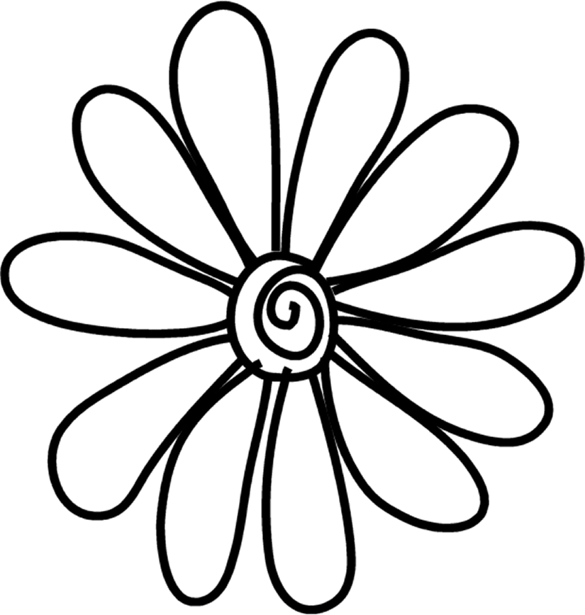 Flower doodle clipart svg black and white stock Common daisy Doodle Drawing Flower Clip art - doodle 825*868 ... svg black and white stock