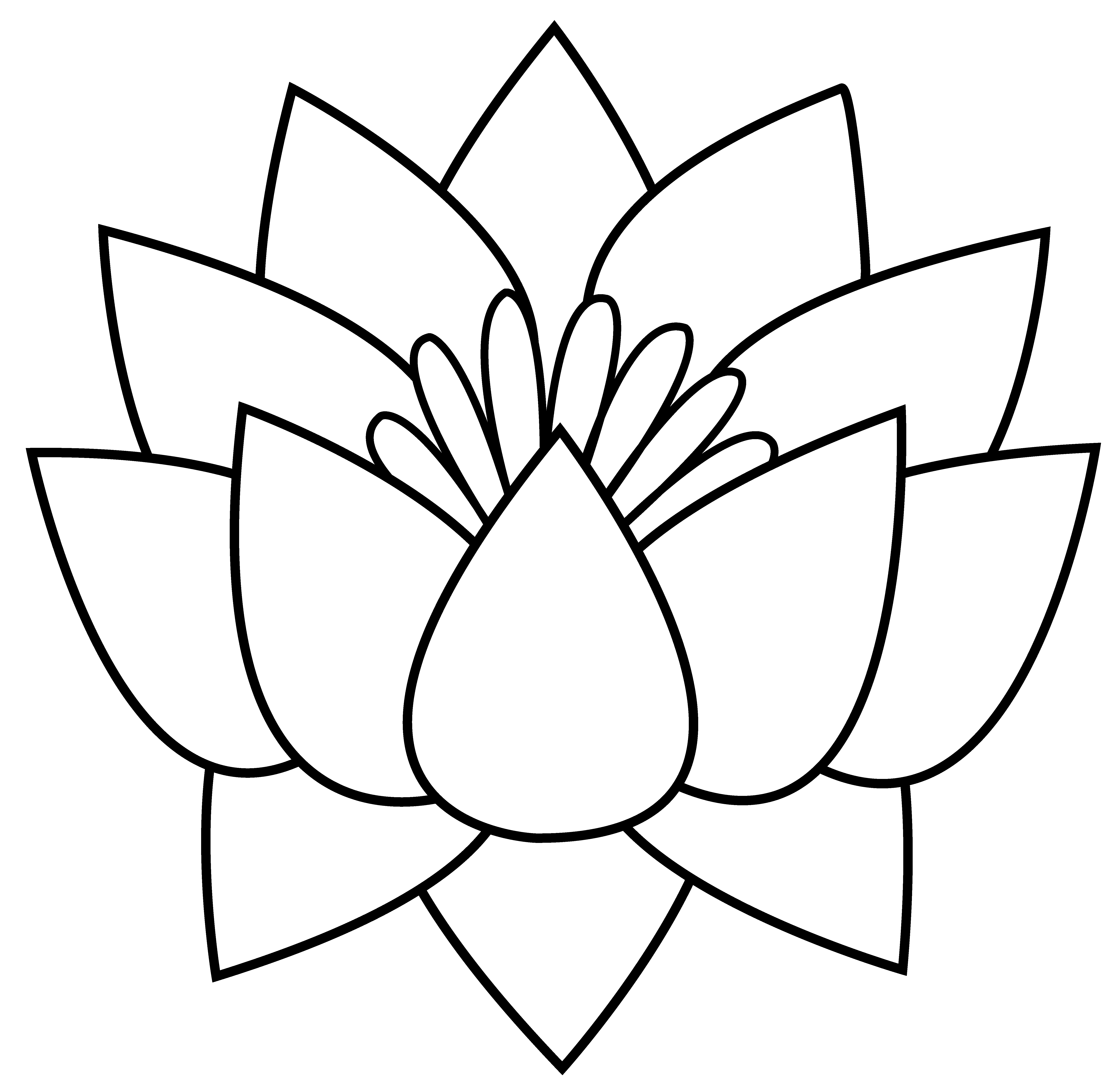 Tiny flower clipart black and white image freeuse download Lotus Flower Line Drawing | Free Download Clip Art | Free Clip Art ... image freeuse download