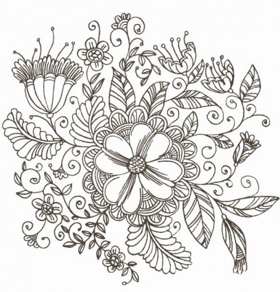 Flower drawings free download picture freeuse library Line Drawing Swirl Flower Pattern Vector Graphic   free vectors ... picture freeuse library