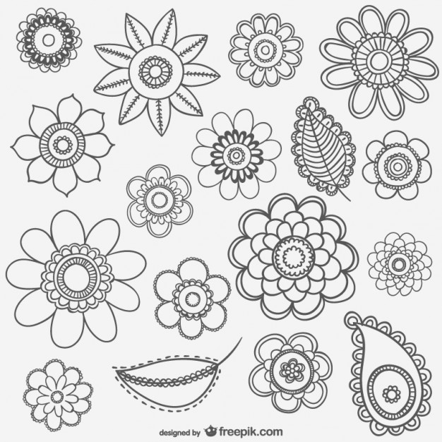Flower drawings free download clip freeuse download Black and white flower drawings Vector   Free Download clip freeuse download