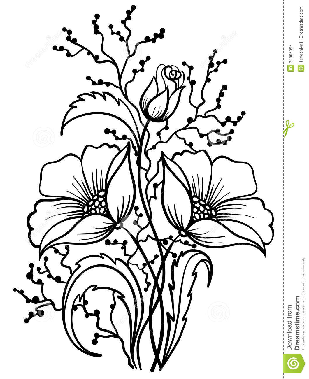 Flower drawings free download png free download Line drawings of flowers free download - ClipartFest png free download