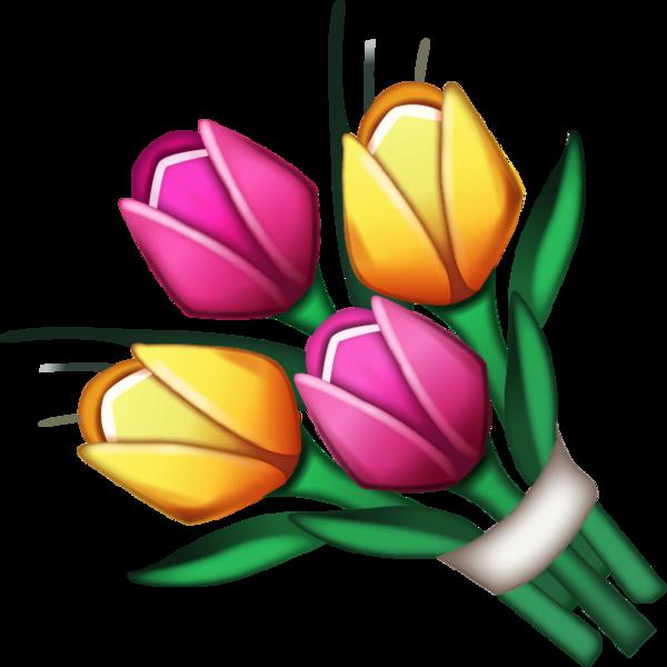 Download bouquet image in. Flower emoji clipart