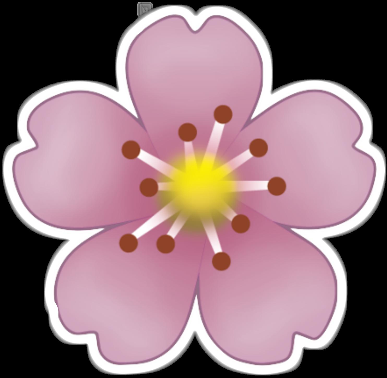 Flower emoji clipart. Sticker pink flowers clip