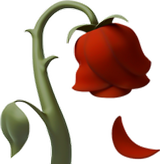 Rose deadrose iphone. Flower emoji clipart