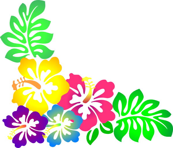 Hawaiian flower clipart border png library stock Luau Flower Clip Art – Free Cliparts png library stock