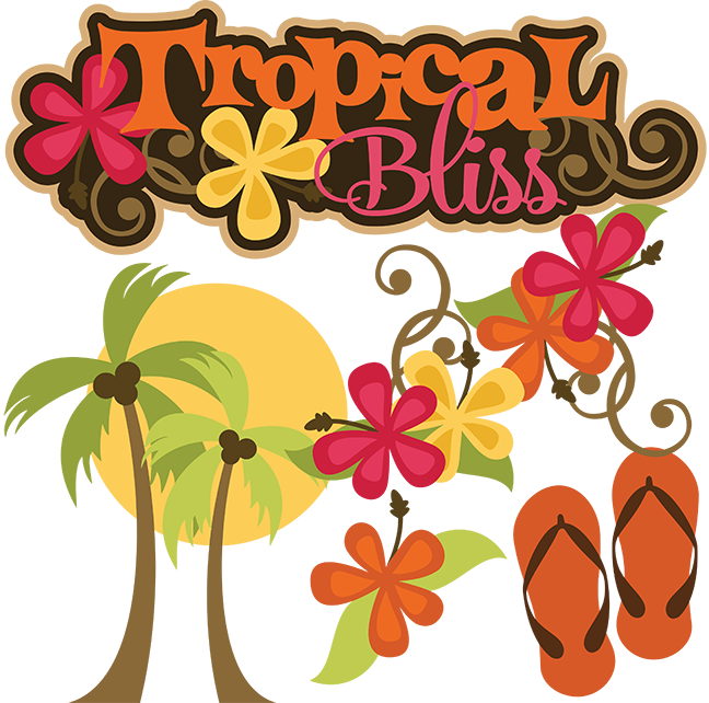 Tropical sun clipart free clipart download Tropical Bliss SVG tropical svg vacation svg beach svg file flip ... clipart download