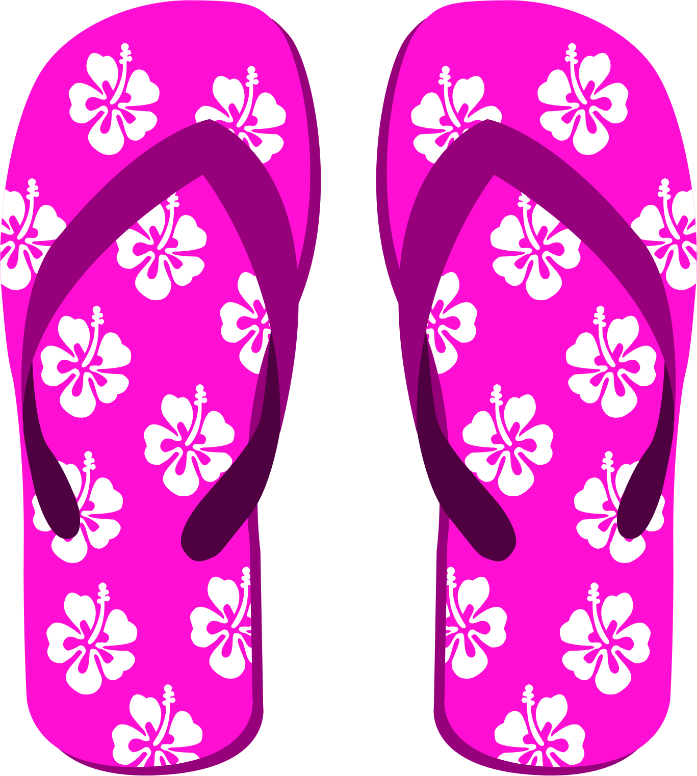 Flower flip flops clipart. Icons png free and
