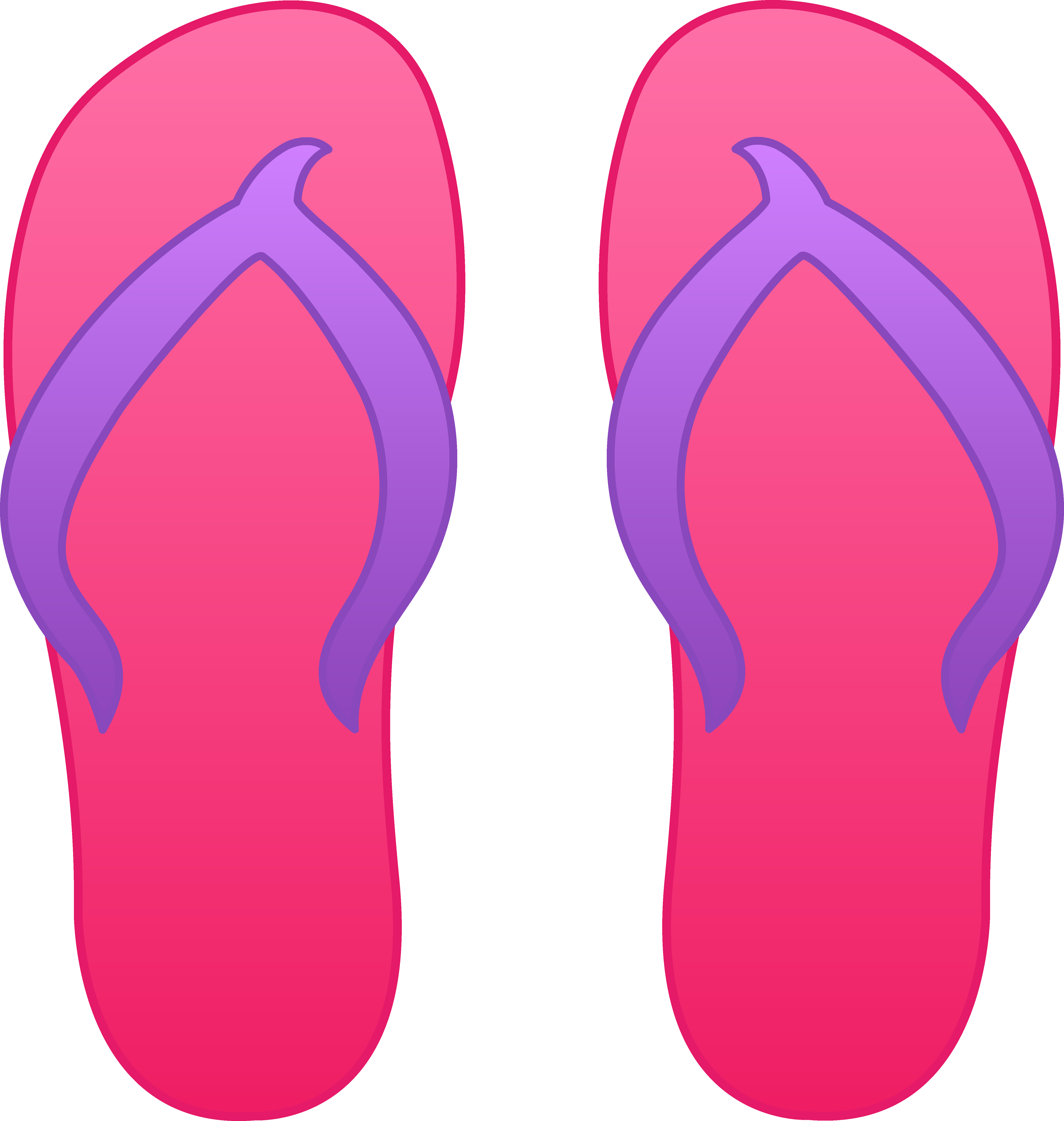 Flower flip flops clipart. To go and from