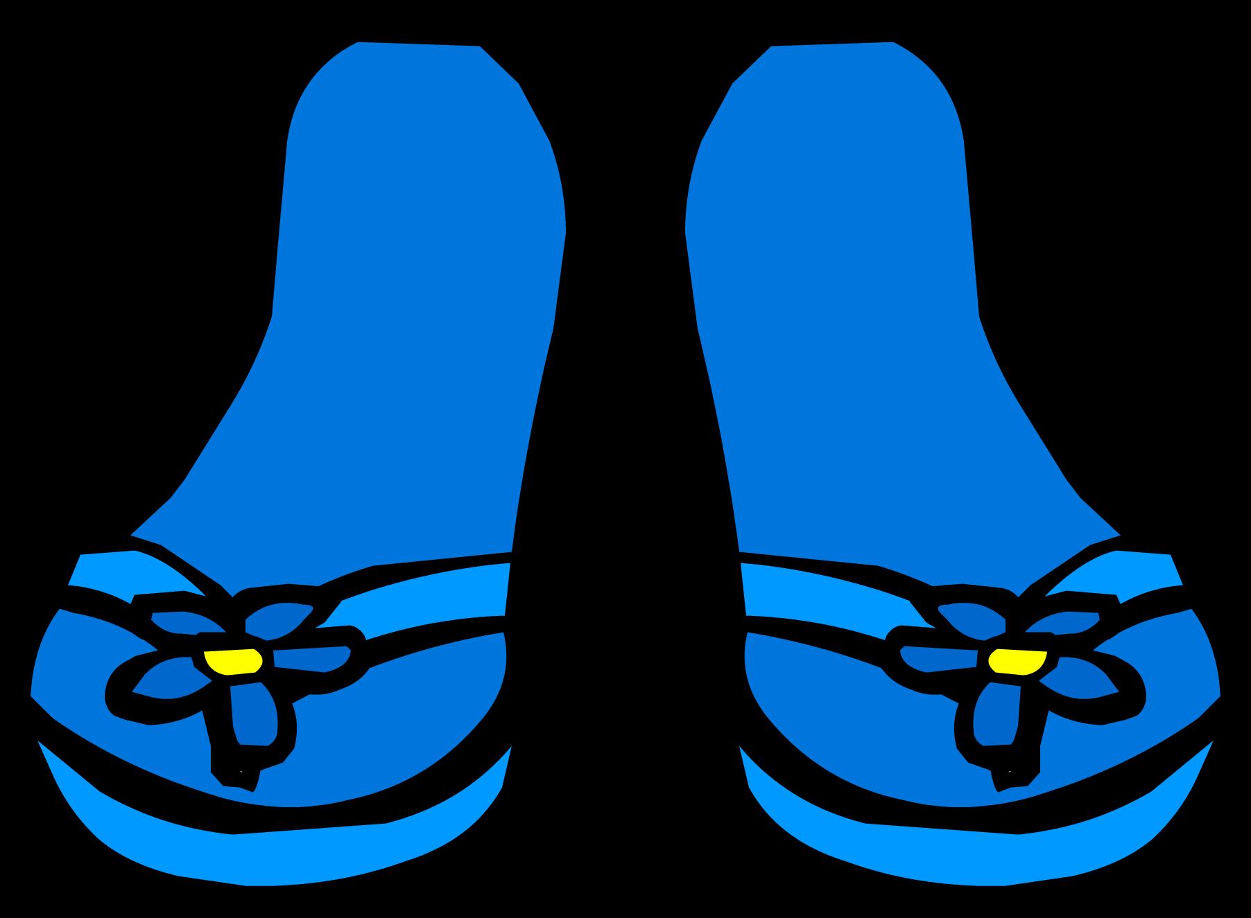 Flower flip flops clipart. Blue sandals club penguin