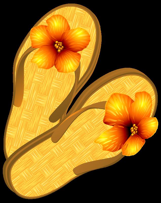 Forgetmenot footwear flipflops. Flower flip flops clipart