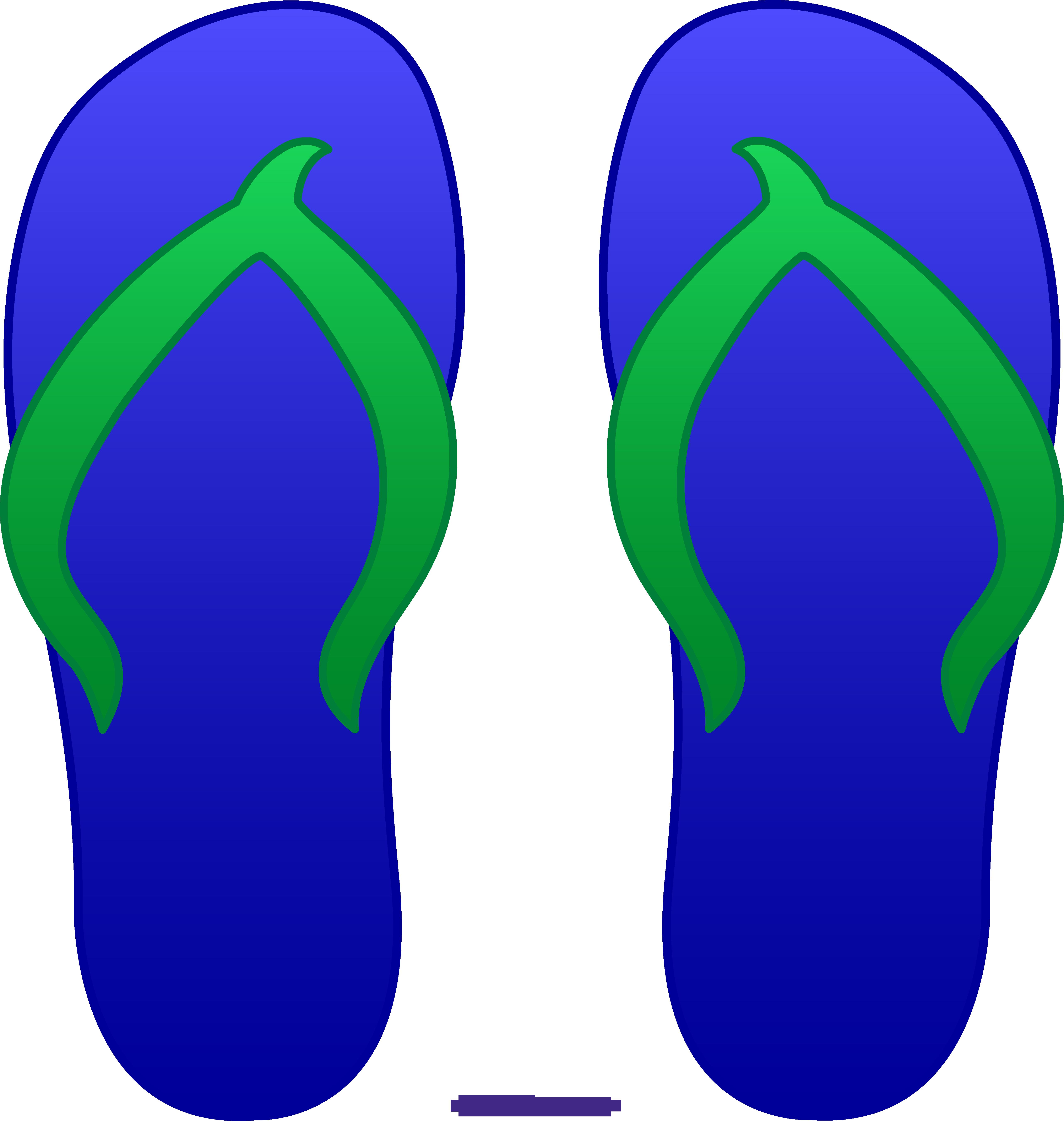 Blue sweet clip art. Flower flip flops clipart