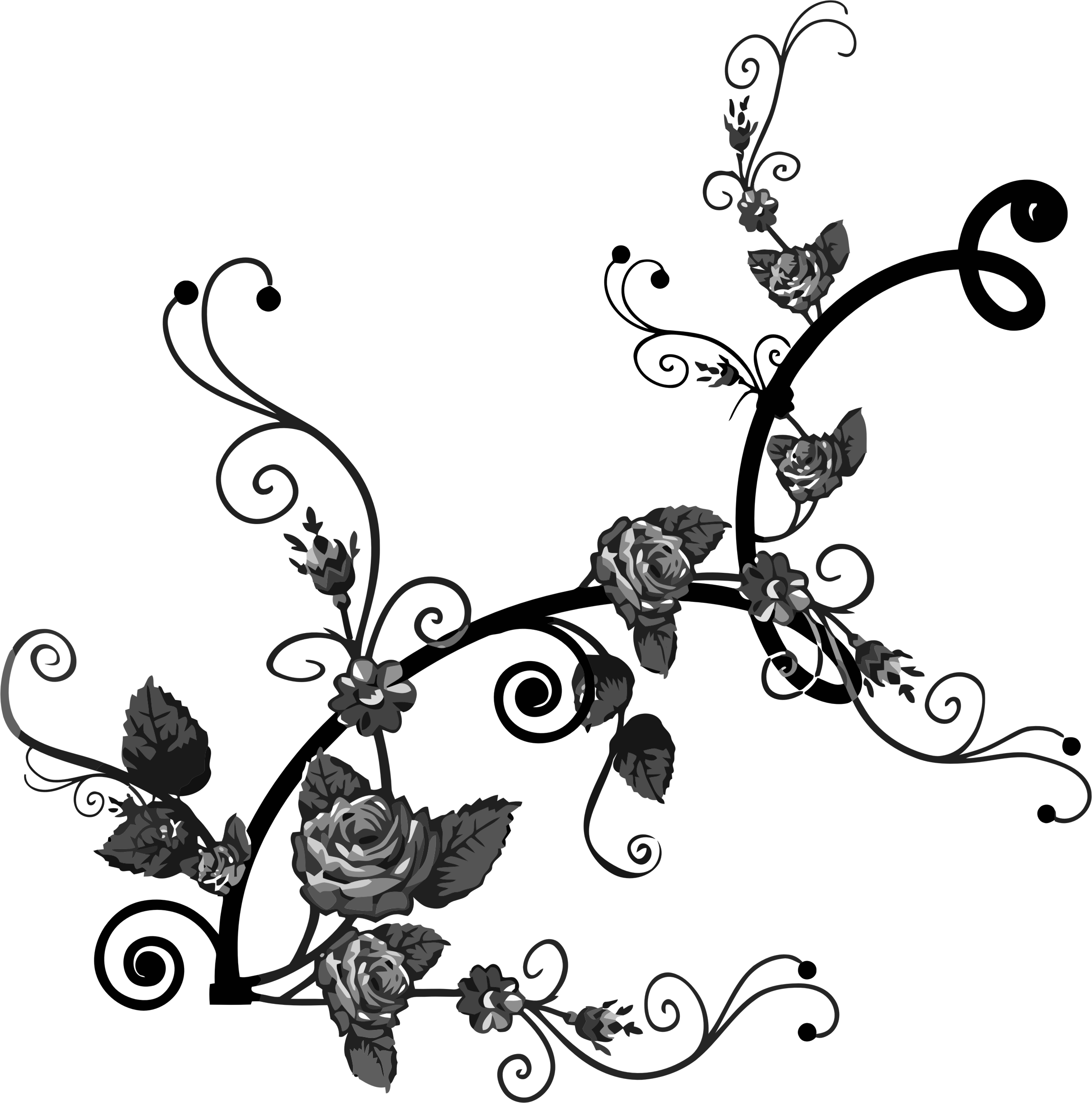 Flower flourish clipart clipart royalty free library Clipart - Rose Floral Flourish 5 clipart royalty free library