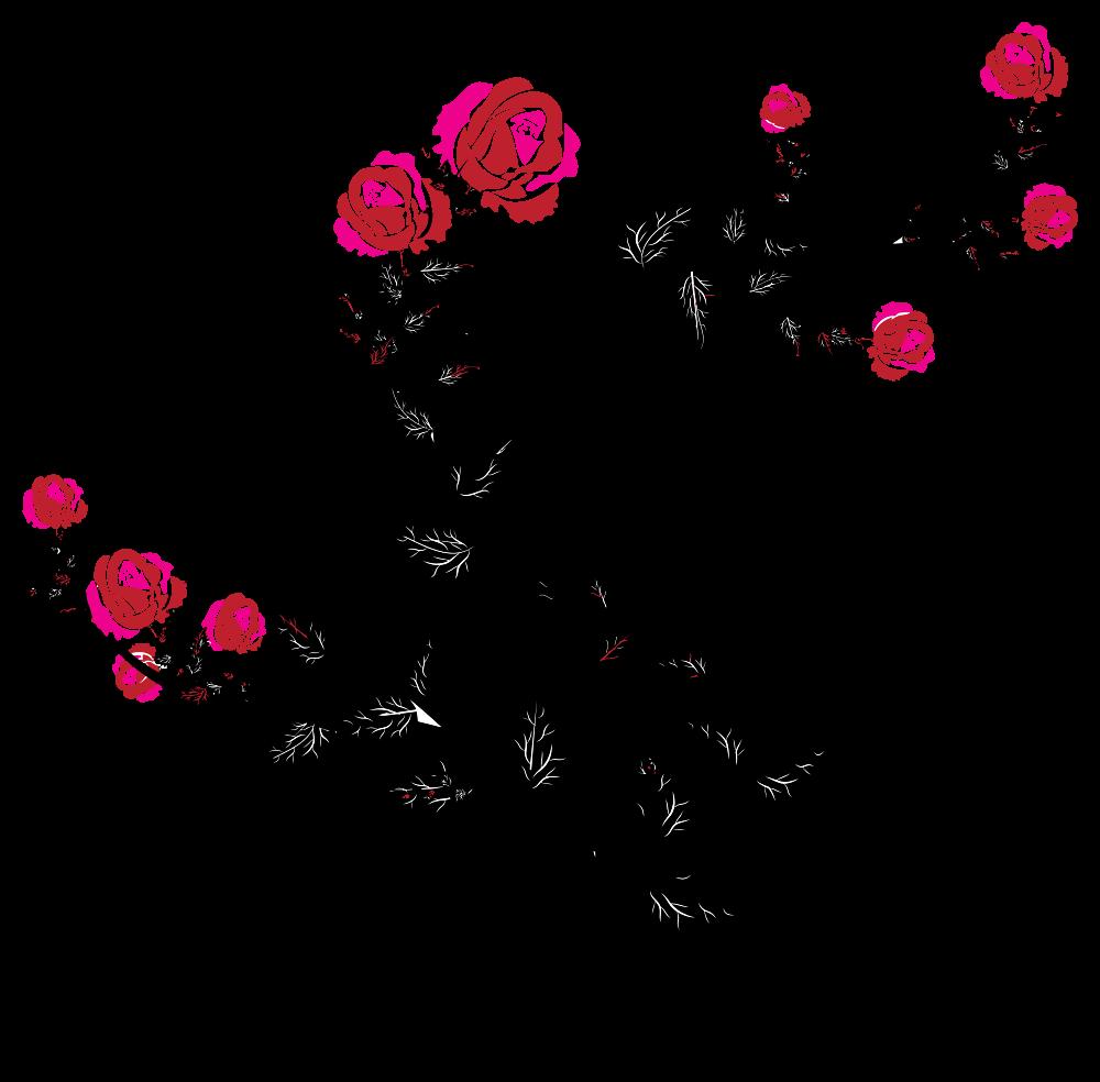 Flower flourish clipart vector royalty free download OnlineLabels Clip Art - Rose Floral Flourish vector royalty free download