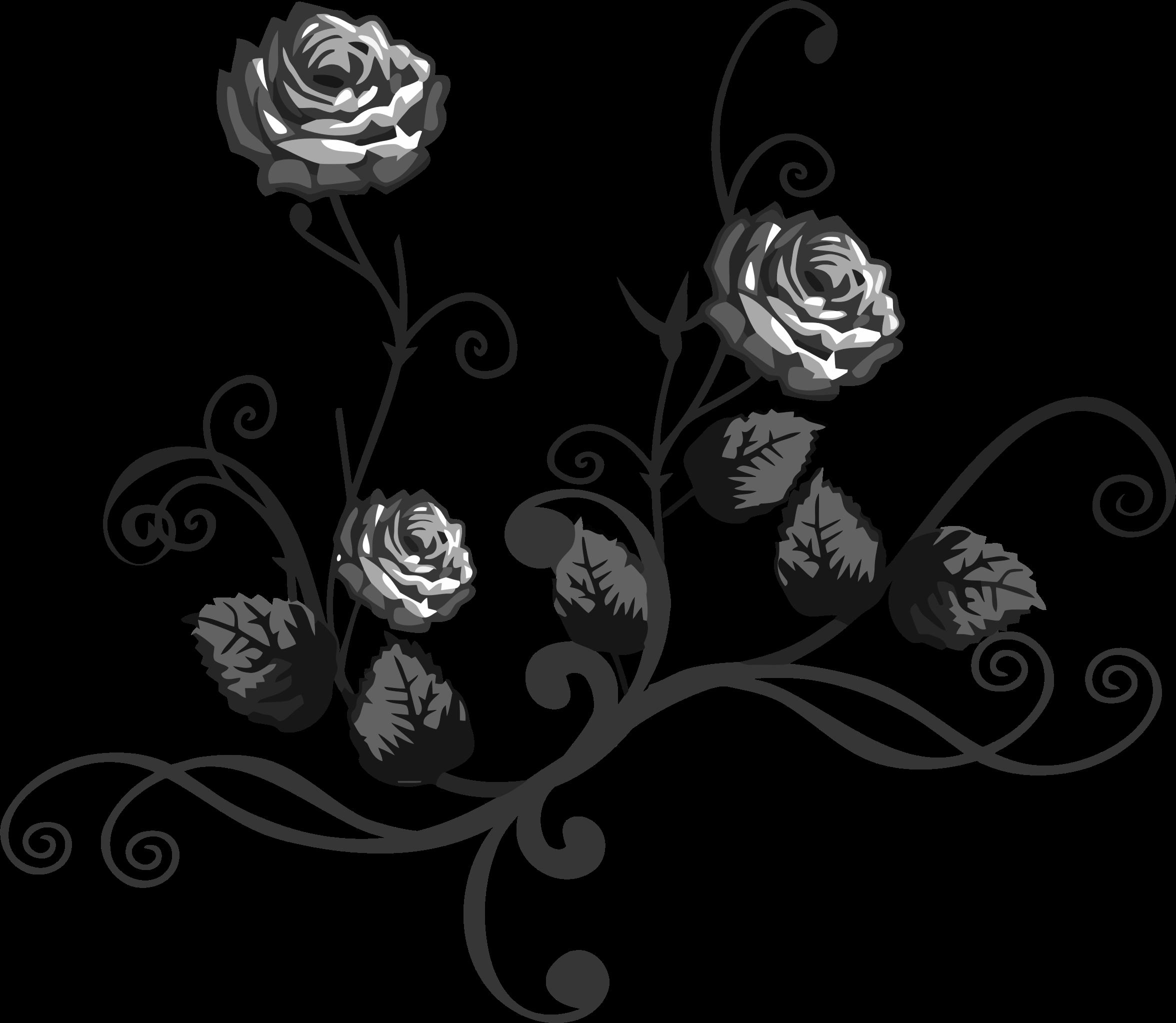 Flower flourish clipart image black and white download Clipart - Rose Floral Flourish 6 image black and white download
