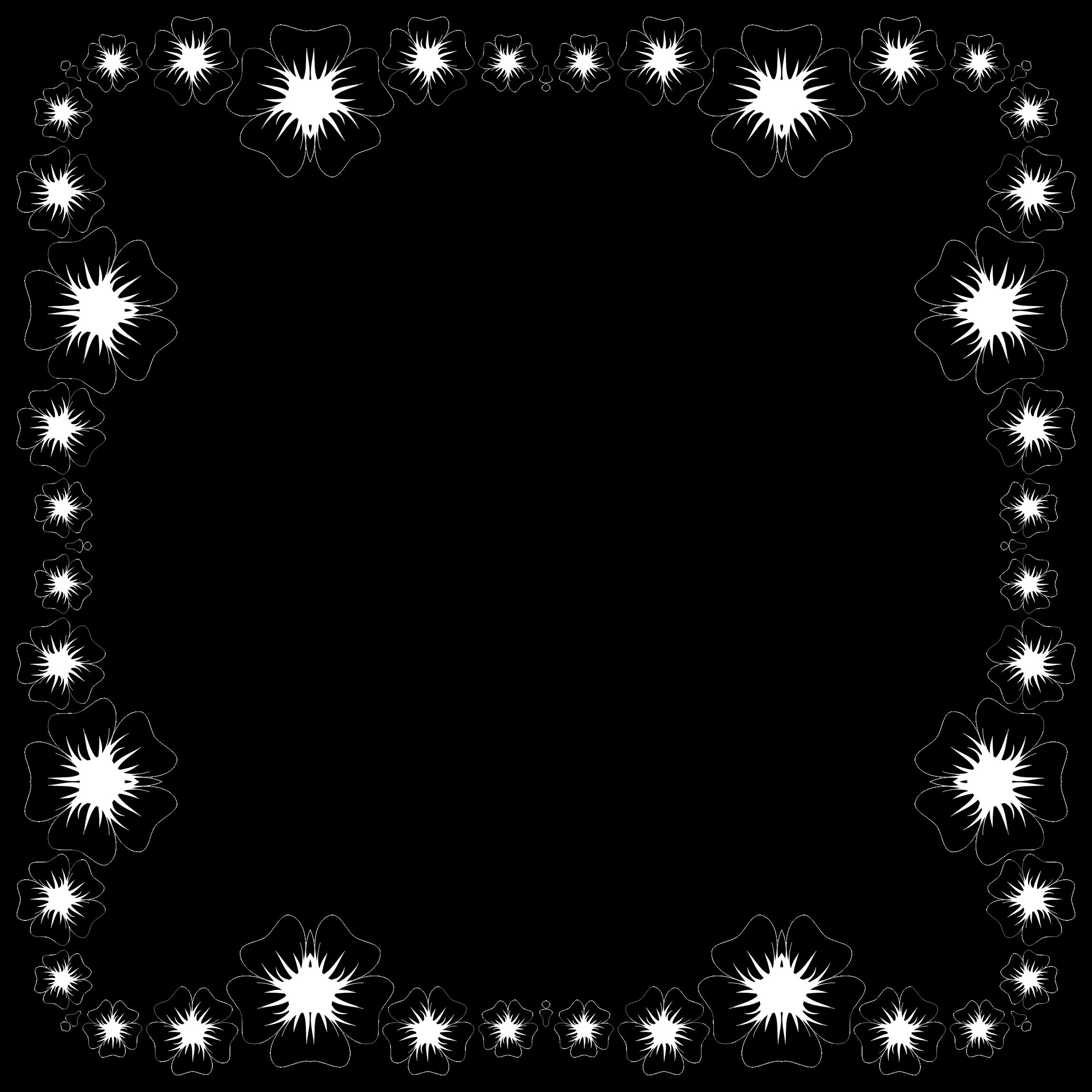 Flower frame clipart black and white image stock Clipart - Flower Frame Extrapolated 3 image stock
