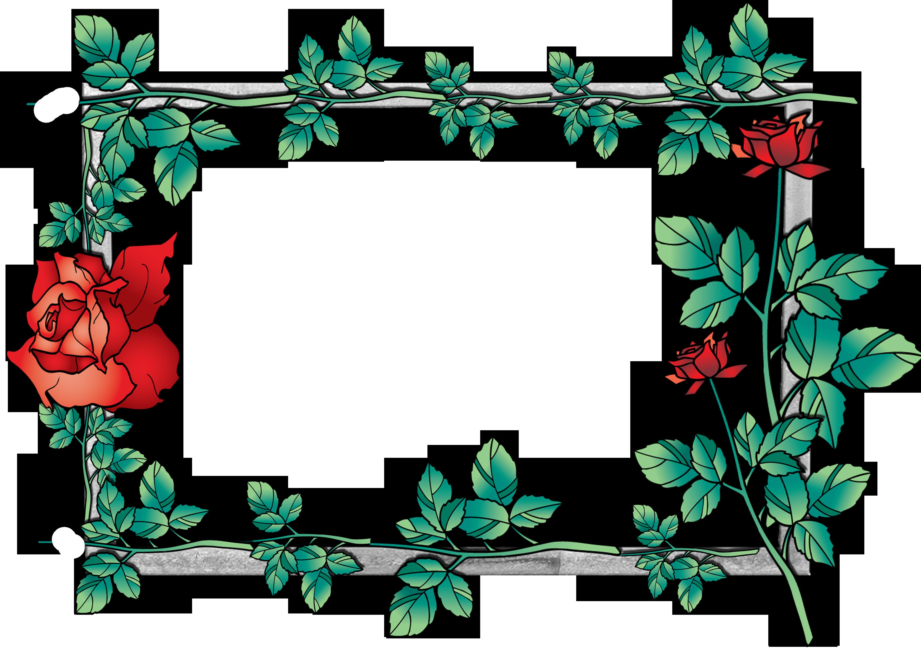 Flower frames clipart jpg transparent stock Flowers frame (1)   Gallery Yopriceville - High-Quality Images and ... jpg transparent stock