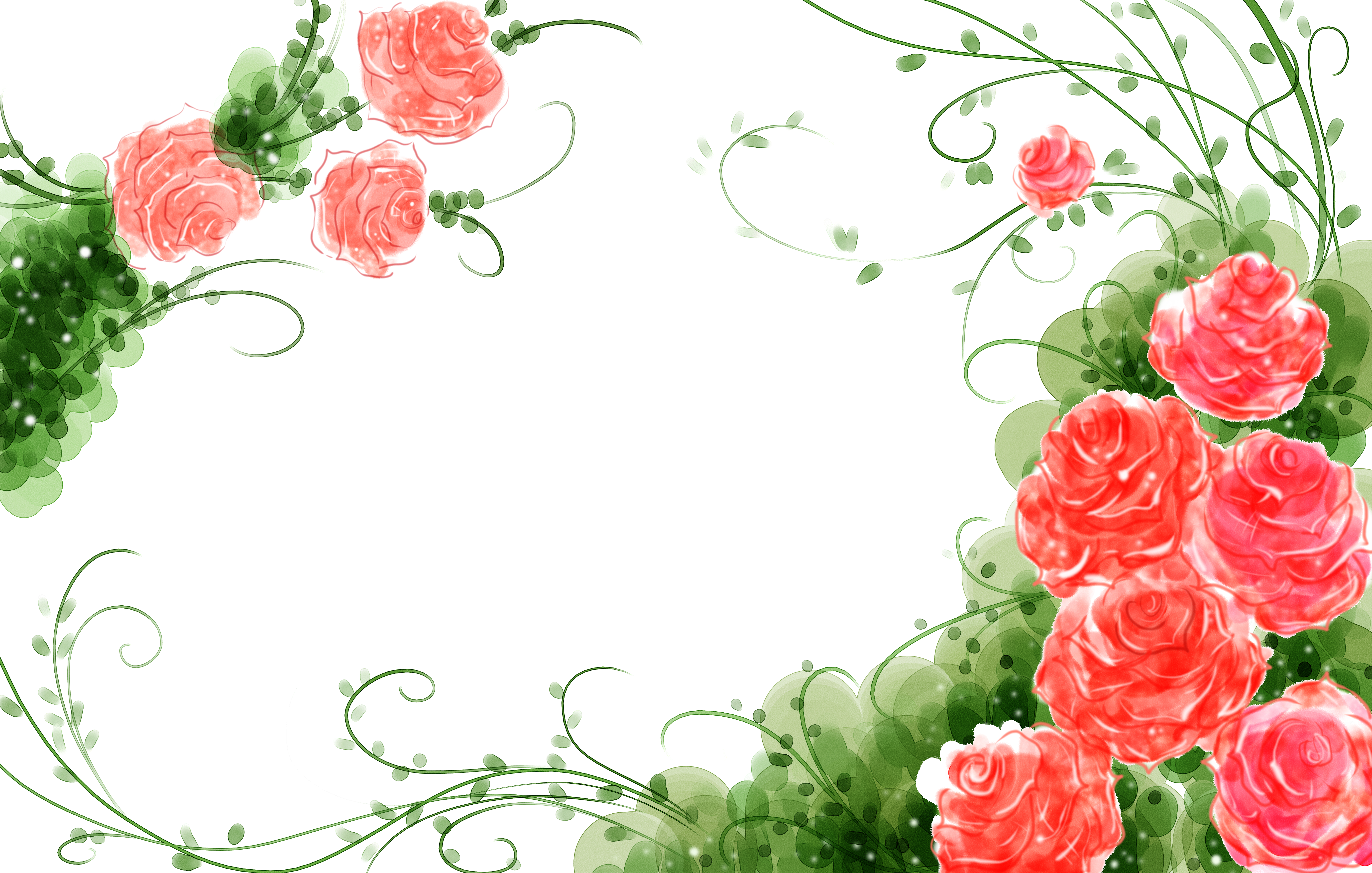 Lime green rose with heart clipart jpg freeuse download Garden roses Flower Watercolor painting Illustration - Watercolor ... jpg freeuse download