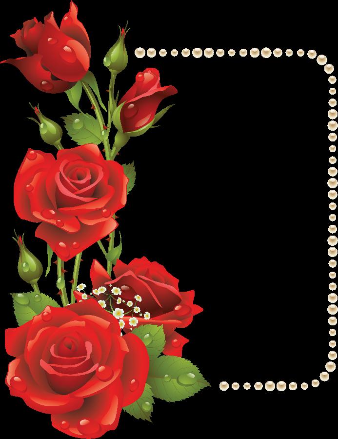 Flower garden borders clipart banner download Flower Picture Frames Rose Clip art - red rose border 693*900 ... banner download