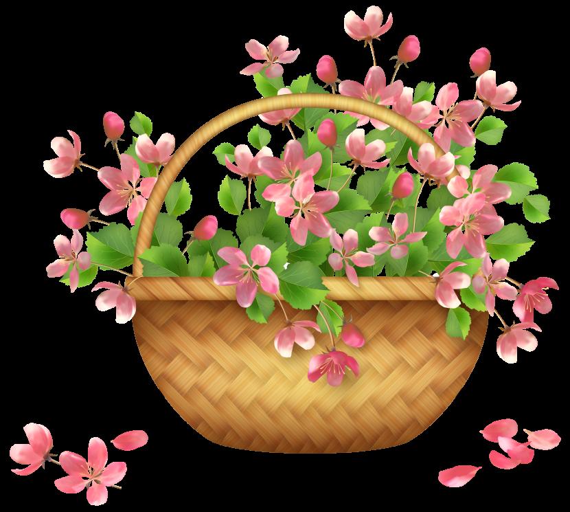 Spring flowers clip art. Flower garden clipart free