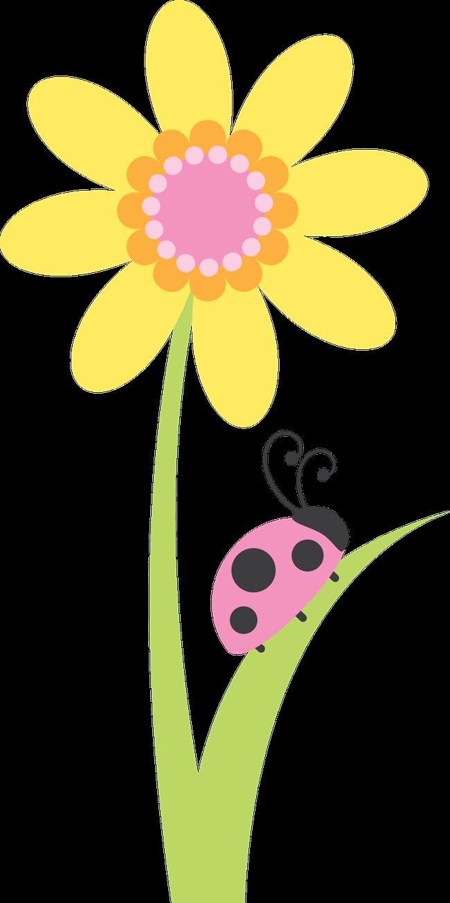 Joaninhas minus pinterest pink. Flower girl basket clipart