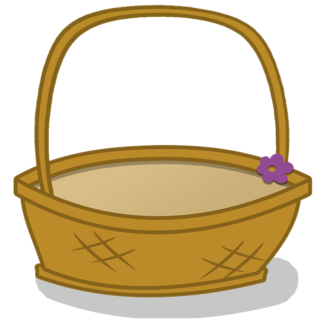 Flower girl basket clipart. Free photo container crate
