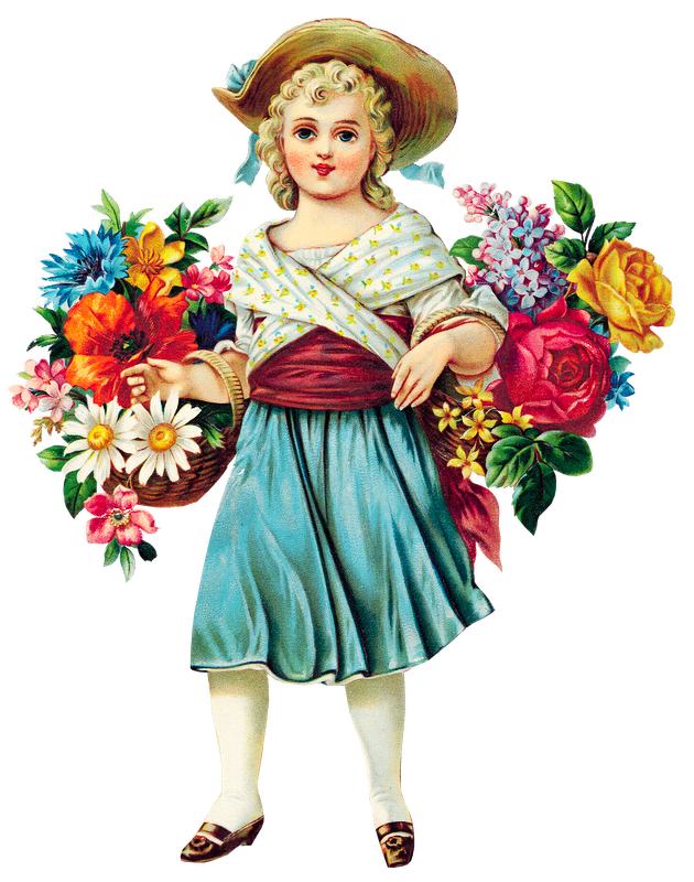 Victorian flower clipart