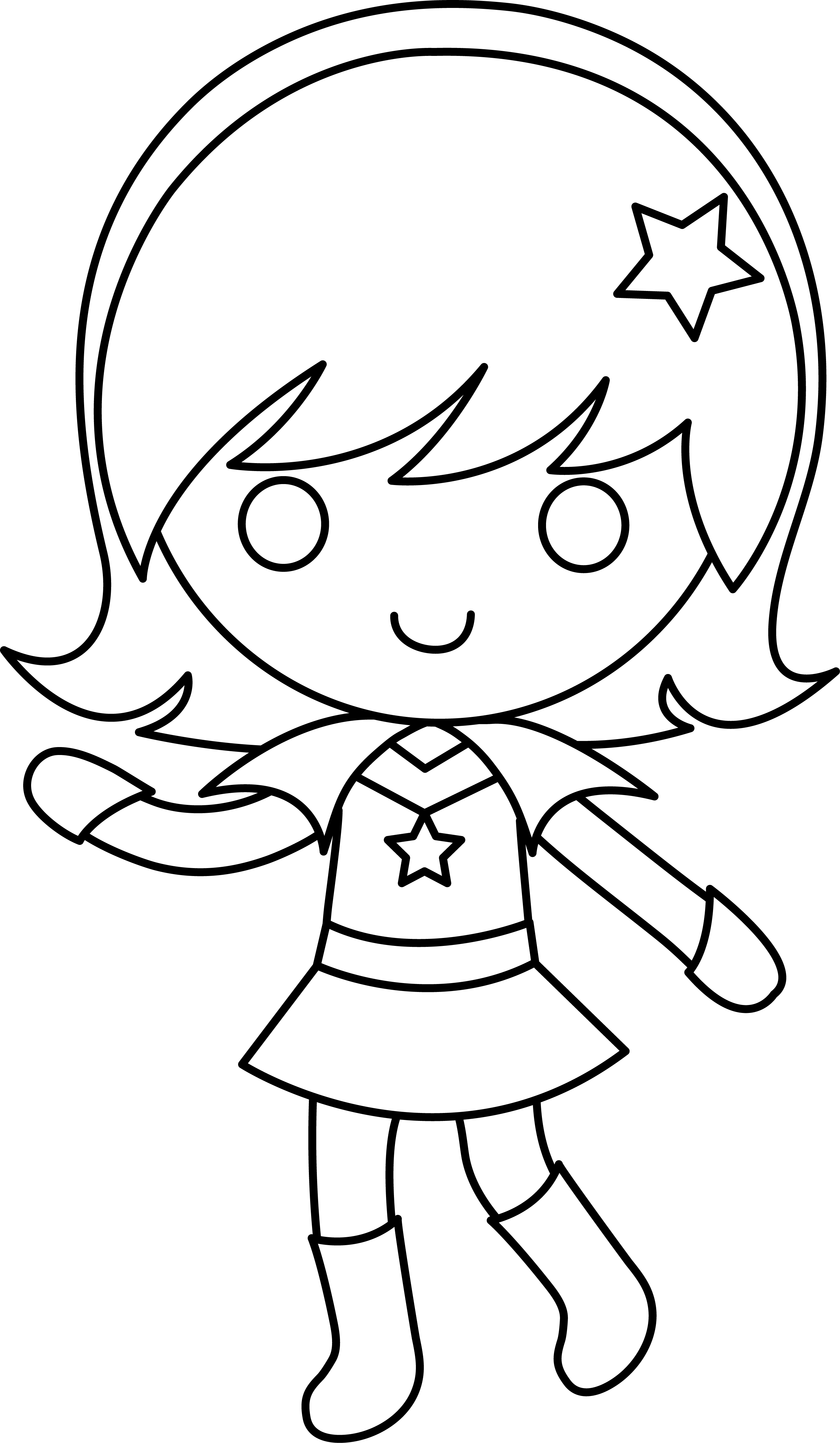 Flower girl clipart black and white picture freeuse download Black And White Drawing Of Girl at GetDrawings.com | Free for ... picture freeuse download