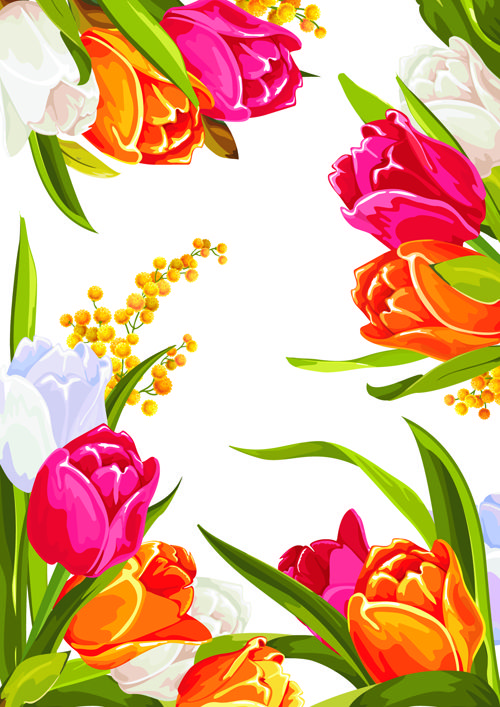 Flower graphic images image free library Flower Graphic Design | Colored beautiful flowers design graphics ... image free library