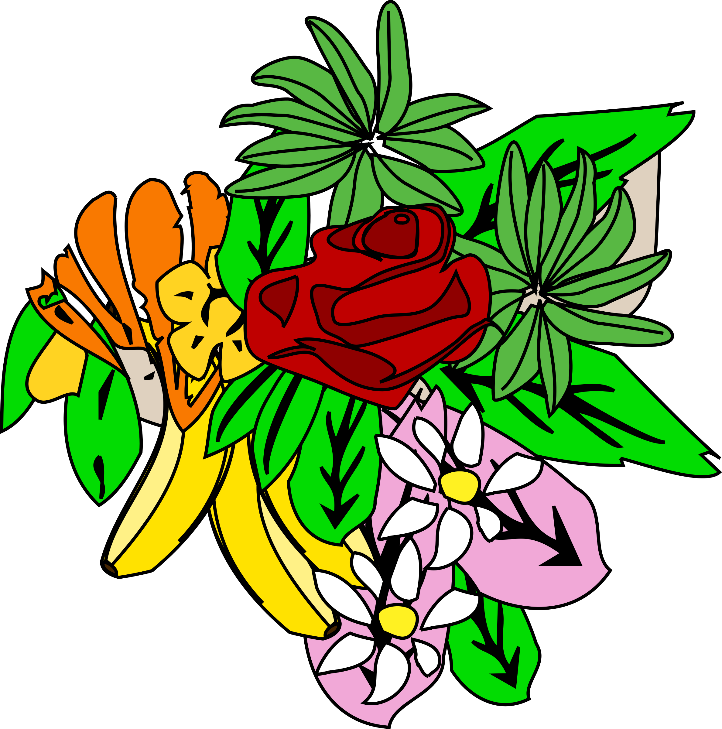 Flower group clipart royalty free library Clipart - Food and flower design 2 royalty free library