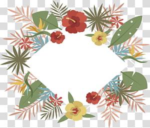 Flower heading clipart. Wreath title box transparent