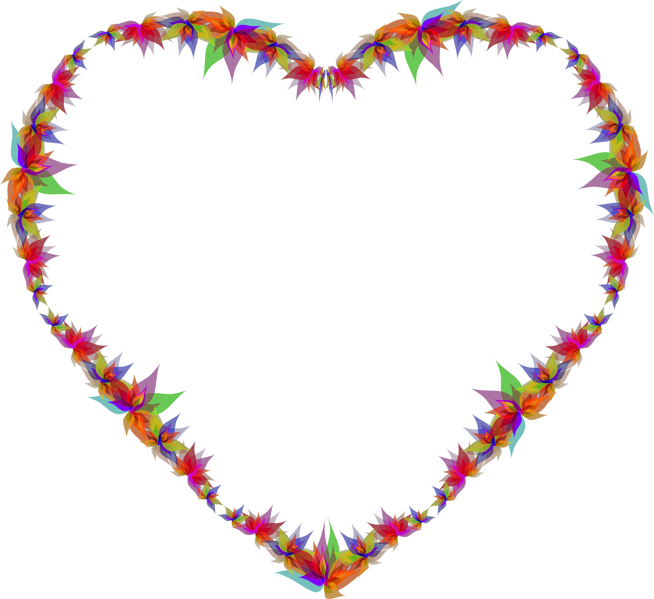 Flower heart clipart picture black and white library Clipart - Abstract Flowers Heart picture black and white library